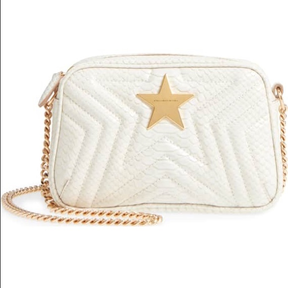 1cf82b08a30695 Stella McCartney Bags | Mini Star Quilted Faux Snake Camera Bag Nwot ...